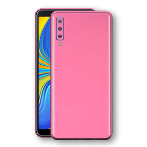 Samsung Galaxy A7 (2018) Hot Pink Glossy Gloss Finish Skin, Decal, Wrap, Protector, Cover by EasySkinz | EasySkinz.com