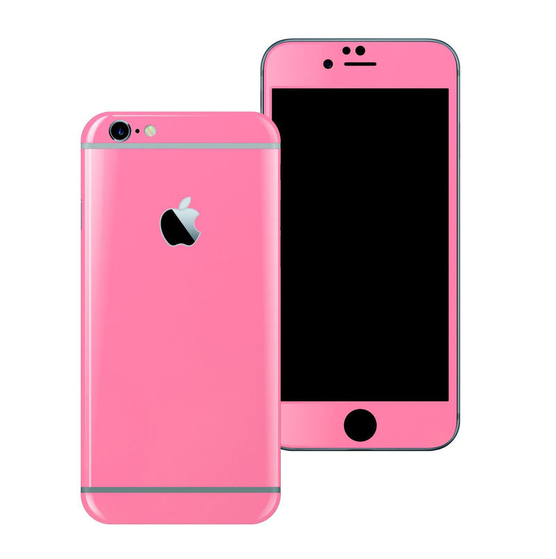iPhone 6S Colorful HOT PINK GLOSSY Skin Wrap Sticker Cover Protector Decal by EasySkinz