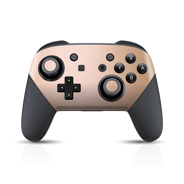 Nintendo Switch Pro Controller Luxuria Rose Gold Metallic Skin Wrap Sticker Decal Cover Protector by EasySkinz