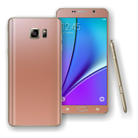 Samsung Galaxy NOTE 5 Rose Gold Glossy Skin Wrap Decal Cover Protector by EasySkinz