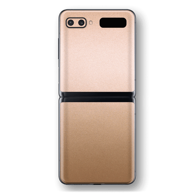 Samsung Galaxy Z Flip Luxuria Rose Gold Metallic Skin Wrap Sticker Decal Cover Protector by EasySkinz