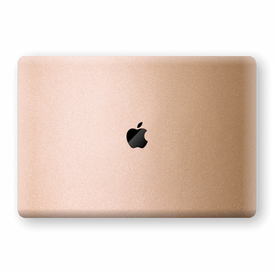 "MacBook Pro 13"" (2020) Luxuria Rose Gold Metallic Skin Wrap Decal Protector 