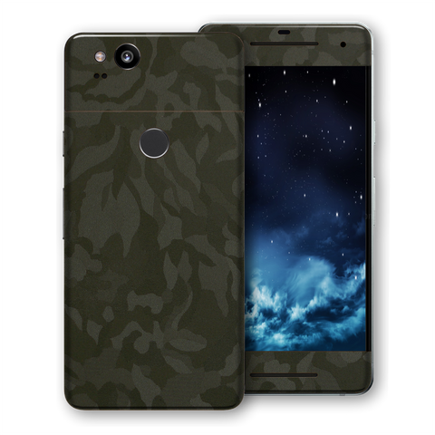 Google Pixel 2 Luxuria GREEN 3D Textured Camo Camouflage Skin Wrap Decal Protector | EasySkinz