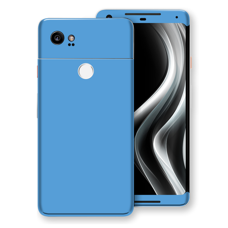 Google Pixel 2 XL SKY BLUE Glossy Gloss Finish Skin, Decal, Wrap, Protector, Cover by EasySkinz | EasySkinz.com