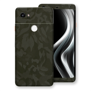 Google Pixel 2 XL Green Camo Camouflage 3D Textured Skin Wrap Decal Protector | EasySkinz