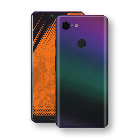 Google Pixel 3 XL Chameleon DARK OPAL Skin Wrap Decal Cover by EasySkinz