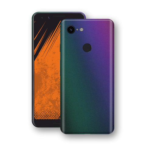 Google Pixel 3 Chameleon DARK OPAL Skin Wrap Decal Cover by EasySkinz