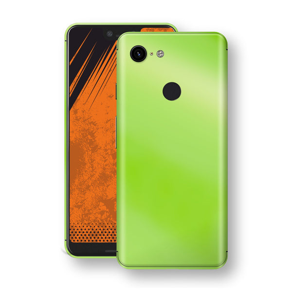 Google Pixel 3 XL Apple Green Pearl Gloss Finish Skin Wrap Decal Cover by EasySkinz