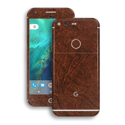 Google Pixel XL LUXURIA Brown Leather Skin by EasySkinz