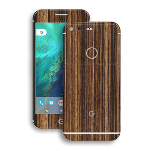 Google Pixel LUXURIA ZEBRANO Wood Wooden Skin by EasySkinz