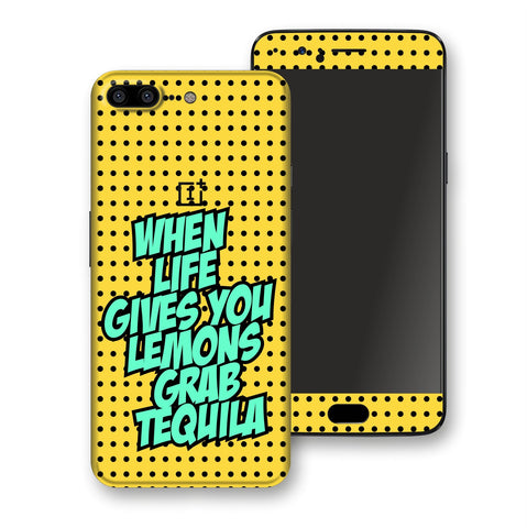 OnePlus 5 Pop Art Quotes When Life Gives You Lemons Grab Tequila Skin, Decal, Wrap, Protector, Cover by EasySkinz | EasySkinz.com