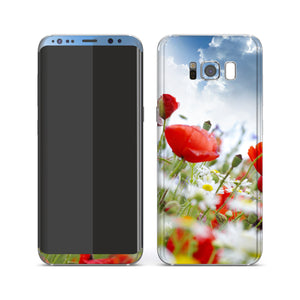 Samsung Galaxy S8+ Print Custom Signature Poppy Garden Skin Wrap Decal by EasySkinz