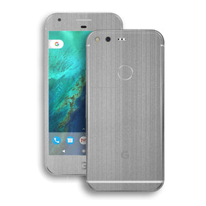 Google Pixel XL Premium Brushed Steel Metallic Metal Skin Wrap Decal by EasySkinz