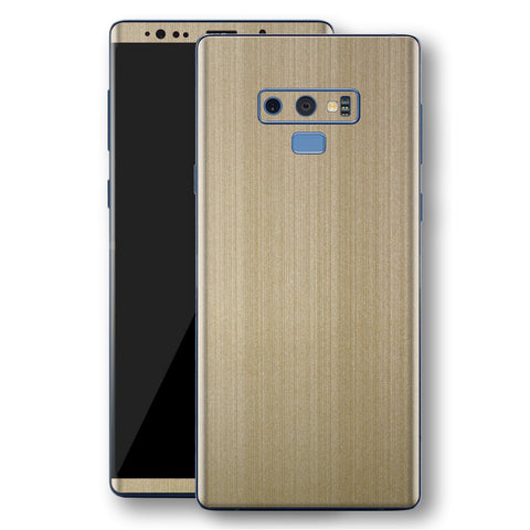 Samsung Galaxy NOTE 9 Premium Brushed Champagne Gold Metallic Metal Skin, Decal, Wrap, Protector, Cover by EasySkinz | EasySkinz.com