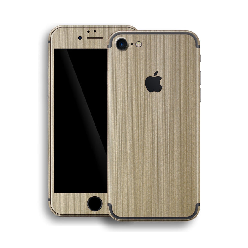 iPhone 7 Brushed Metal Champange Gold Skin, Wrap, Decal, Protector, Cover by EasySkinz | EasySkinz.com