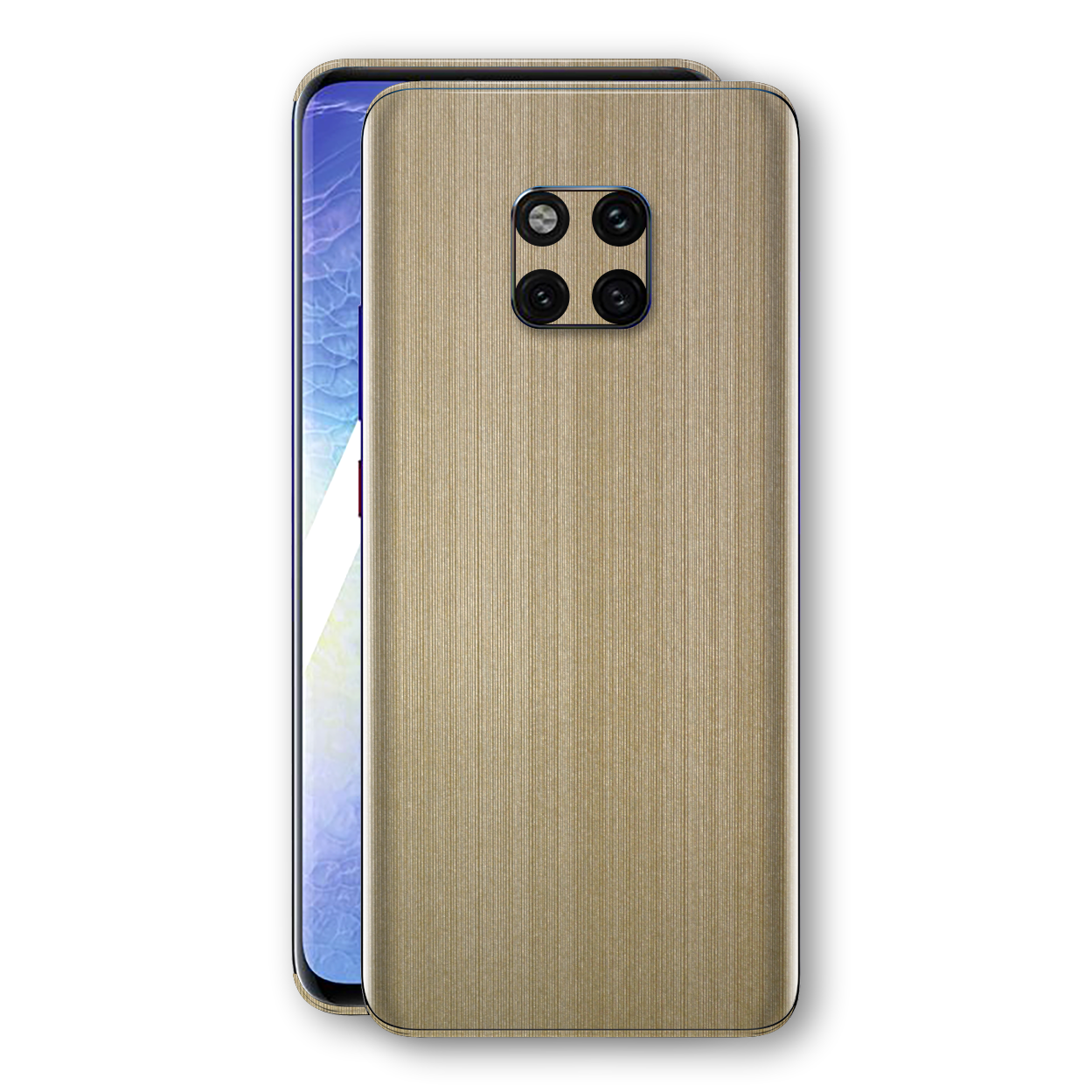 Huawei MATE 20 PRO Premium Brushed Champagne Gold Metallic Metal Skin, Decal, Wrap, Protector, Cover by EasySkinz | EasySkinz.com