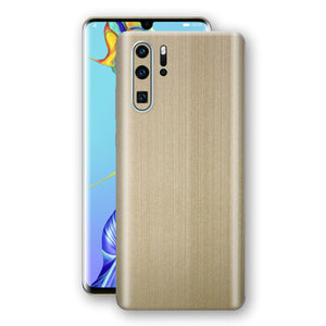 Huawei P30 PRO Premium Brushed Champagne Gold Metallic Metal Skin, Decal, Wrap, Protector, Cover by EasySkinz | EasySkinz.com