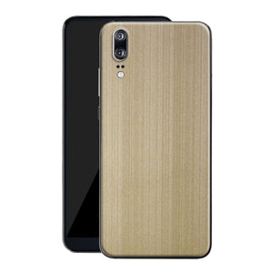 Huawei P20 Premium Brushed Champagne Gold Metallic Metal Skin, Decal, Wrap, Protector, Cover by EasySkinz | EasySkinz.com