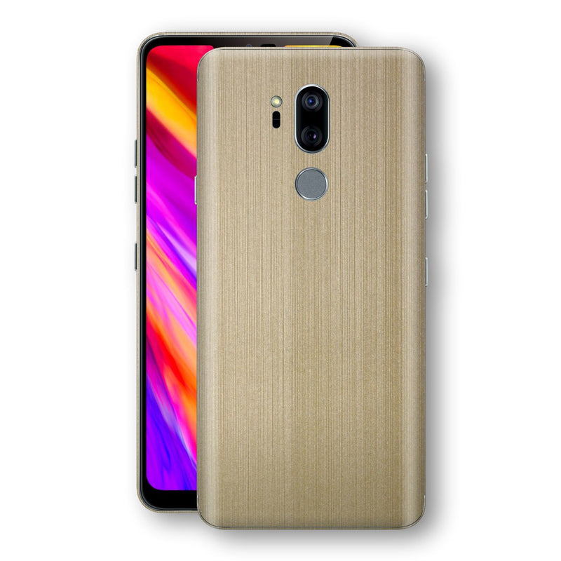 LG G7 ThinQ Premium Brushed Champagne Gold Metallic Metal Skin, Decal, Wrap, Protector, Cover by EasySkinz | EasySkinz.com