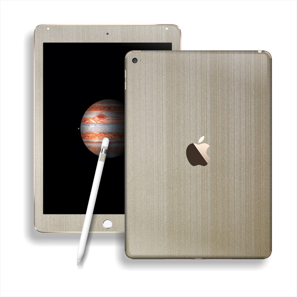 iPad PRO Premium Brushed Champagne Gold Skin Wrap Sticker Decal Cover Protector by EasySkinz