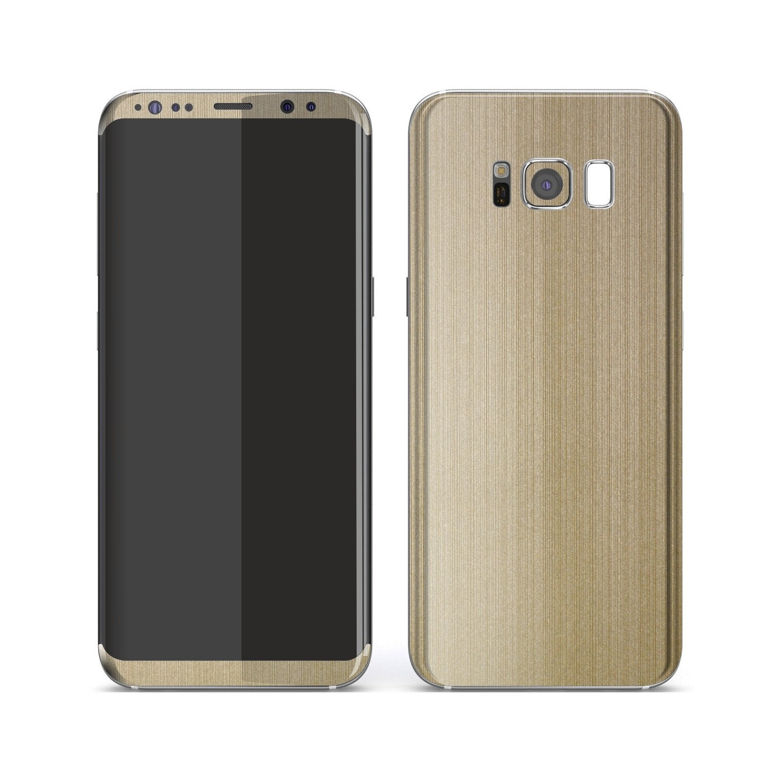 Samsung Galaxy S8+ Premium Brushed Champagne Gold Metallic Metal Skin, Decal, Wrap, Protector, Cover by EasySkinz | EasySkinz.com