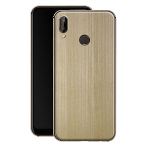 Huawei P20 LITE Premium Brushed Champagne Gold Metallic Metal Skin, Decal, Wrap, Protector, Cover by EasySkinz | EasySkinz.com
