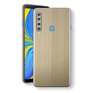 Samsung Galaxy A9 (2018) Premium Brushed Champagne Gold Metallic Metal Skin, Decal, Wrap, Protector, Cover by EasySkinz | EasySkinz.com