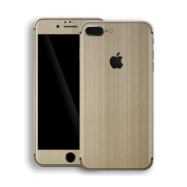 iPhone 8 Plus Brushed Champagne Gold Metallic Skin, Decal, Wrap, Protector, Cover by EasySkinz | EasySkinz.com
