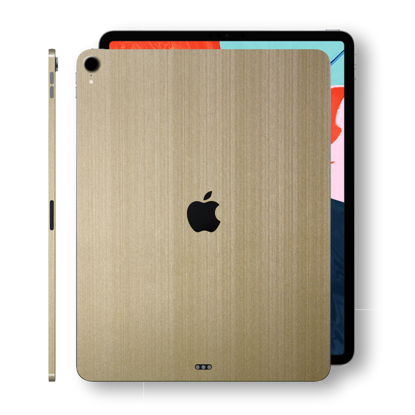 iPad PRO 11-inch 2018 Premium Brushed Champagne Gold Skin Wrap Sticker Decal Cover Protector by EasySkinz
