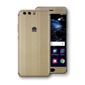 Huawei P10+ PLUS Premium Brushed Champagne Gold Metallic Metal Skin, Decal, Wrap, Protector, Cover by EasySkinz | EasySkinz.com