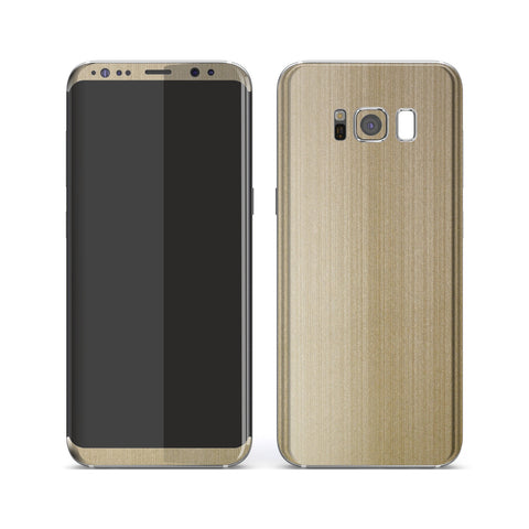 Samsung Galaxy S8 Premium Brushed Champagne Gold Metallic Metal Skin, Decal, Wrap, Protector, Cover by EasySkinz | EasySkinz.com