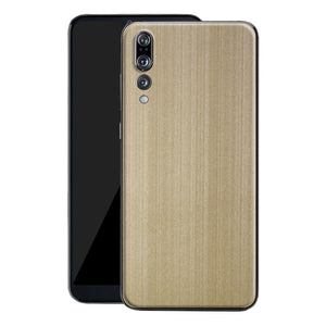 Huawei P20 PRO Premium Brushed Champagne Gold Metallic Metal Skin, Decal, Wrap, Protector, Cover by EasySkinz | EasySkinz.com