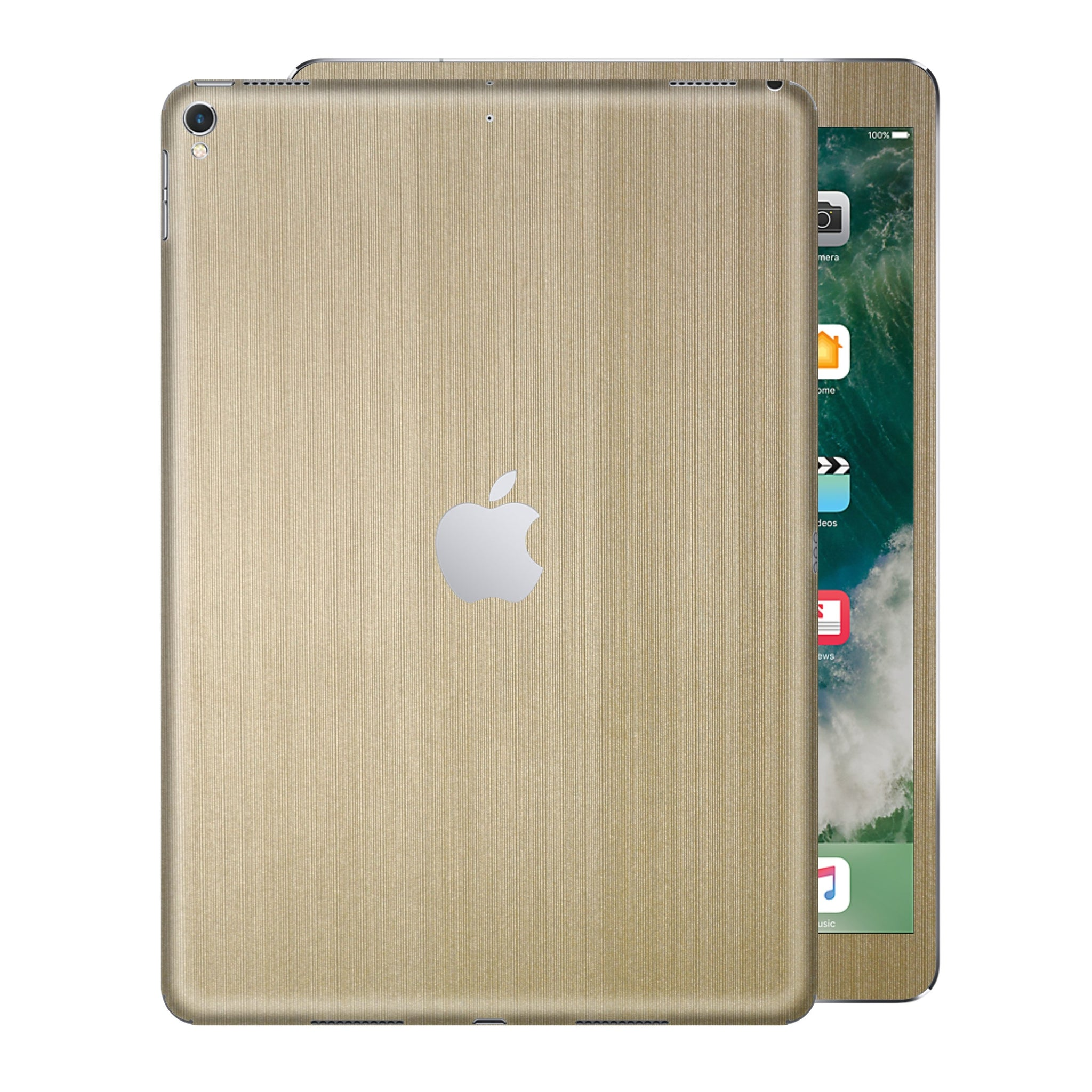 iPad PRO 12.9 inch 2017 Premium Brushed Champagne Gold Skin Wrap Sticker Decal Cover Protector by EasySkinz