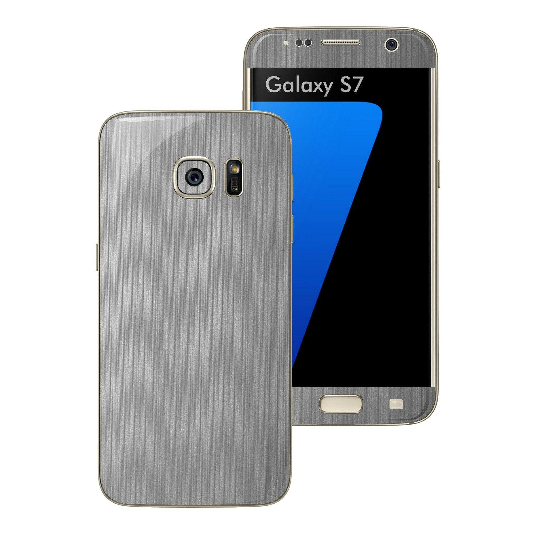 Samsung Galaxy S7 Brushed Steel Metallic Skin Wrap Decal Protector Cover Sticker by EasySkinz