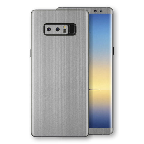 Samsung Galaxy NOTE 8 Premium Brushed STEEL Metallic Metal Skin, Decal, Wrap, Protector, Cover by EasySkinz | EasySkinz.com