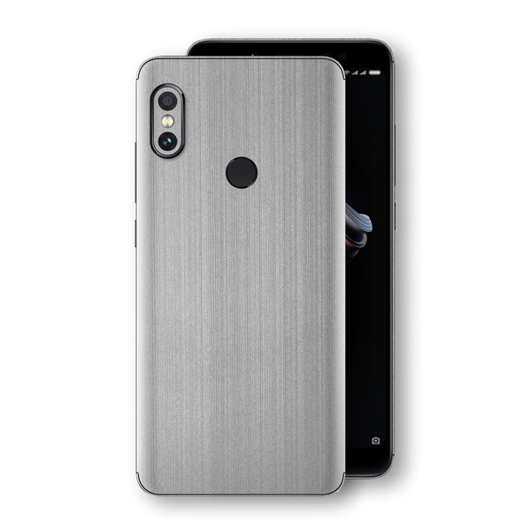 XIAOMI Redmi NOTE 5 Premium Brushed STEEL Metallic Metal Skin, Decal, Wrap, Protector, Cover by EasySkinz | EasySkinz.com