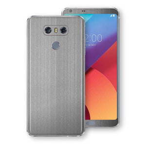LG G6 Premium Brushed STEEL Metallic Metal Skin, Decal, Wrap, Protector, Cover by EasySkinz | EasySkinz.com