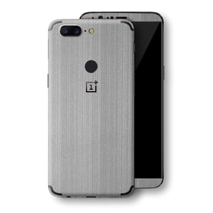 OnePlus 5T Premium Brushed STEEL Metallic Metal Skin, Decal, Wrap, Protector, Cover by EasySkinz | EasySkinz.com