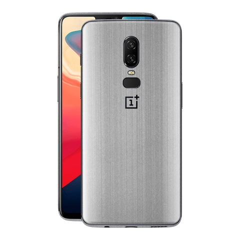 OnePlus 6 Premium Brushed STEEL Metallic Metal Skin, Decal, Wrap, Protector, Cover by EasySkinz | EasySkinz.com