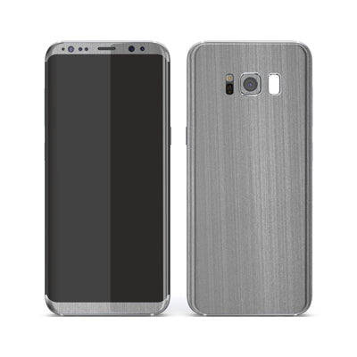 Samsung Galaxy S8 Premium Brushed STEEL Metallic Metal Skin, Decal, Wrap, Protector, Cover by EasySkinz | EasySkinz.com