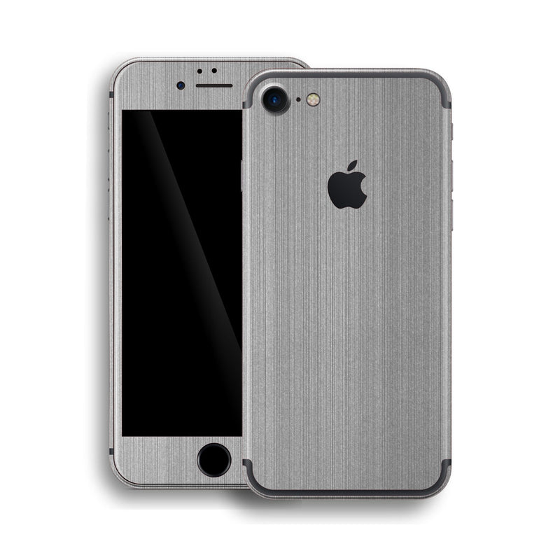 iPhone 7 Brushed Metal Steel Skin, Wrap, Decal, Protector, Cover by EasySkinz | EasySkinz.com