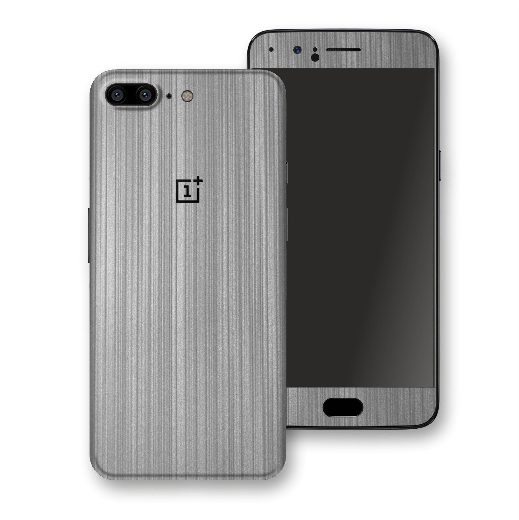 OnePlus 5 Premium Brushed STEEL Metallic Metal Skin, Decal, Wrap, Protector, Cover by EasySkinz | EasySkinz.com