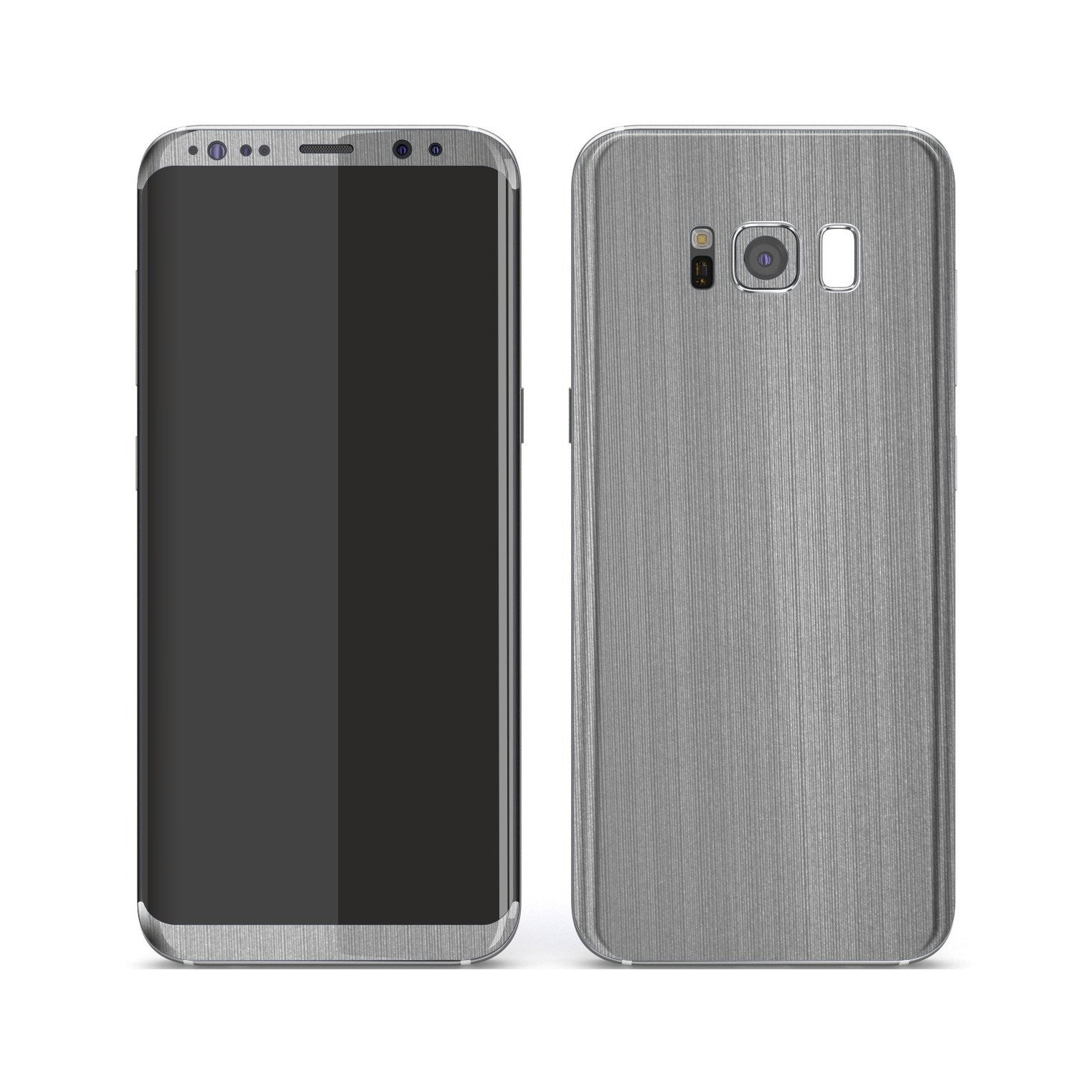 Samsung Galaxy S8+ Premium Brushed STEEL Metallic Metal Skin, Decal, Wrap, Protector, Cover by EasySkinz | EasySkinz.com