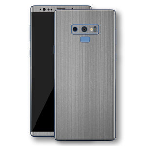 Samsung Galaxy NOTE 9 Premium Brushed STEEL Metallic Metal Skin, Decal, Wrap, Protector, Cover by EasySkinz | EasySkinz.com