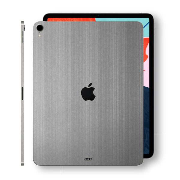 iPad PRO 11-inch 2018 Premium Brushed Steel Skin Wrap Sticker Decal Cover Protector by EasySkinz