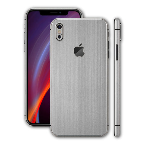 iPhone XS MAX Brushed Metal Steel Skin, Wrap, Decal, Protector, Cover by EasySkinz | EasySkinz.com