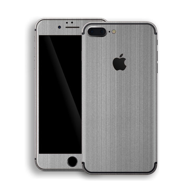 iPhone 7 Plus Brushed Steel Metallic Skin, Decal, Wrap, Protector, Cover by EasySkinz | EasySkinz.com