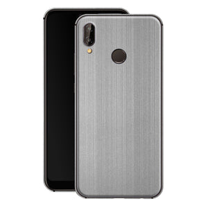 Huawei P20 LITE Premium Brushed STEEL Metallic Metal Skin, Decal, Wrap, Protector, Cover by EasySkinz | EasySkinz.com