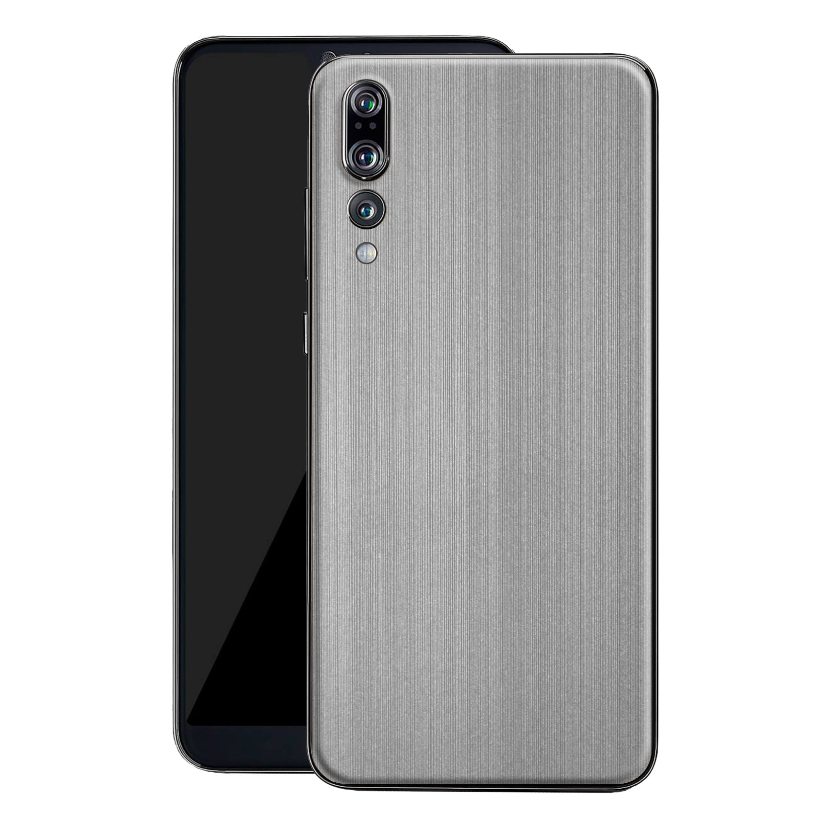 Huawei P20 PRO Premium Brushed STEEL Metallic Metal Skin, Decal, Wrap, Protector, Cover by EasySkinz | EasySkinz.com