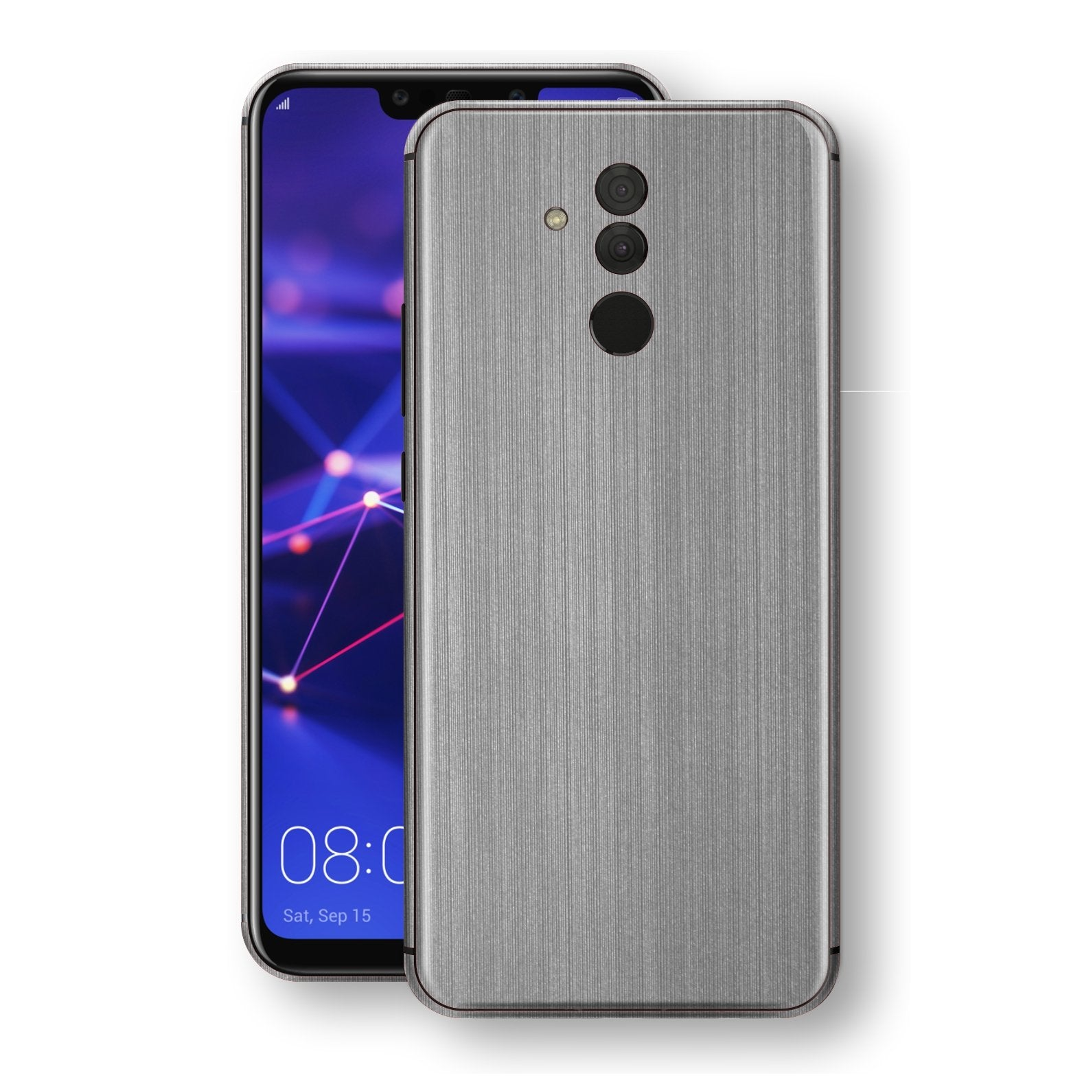 Huawei MATE 20 LITE Premium Brushed STEEL Metallic Metal Skin, Decal, Wrap, Protector, Cover by EasySkinz | EasySkinz.com